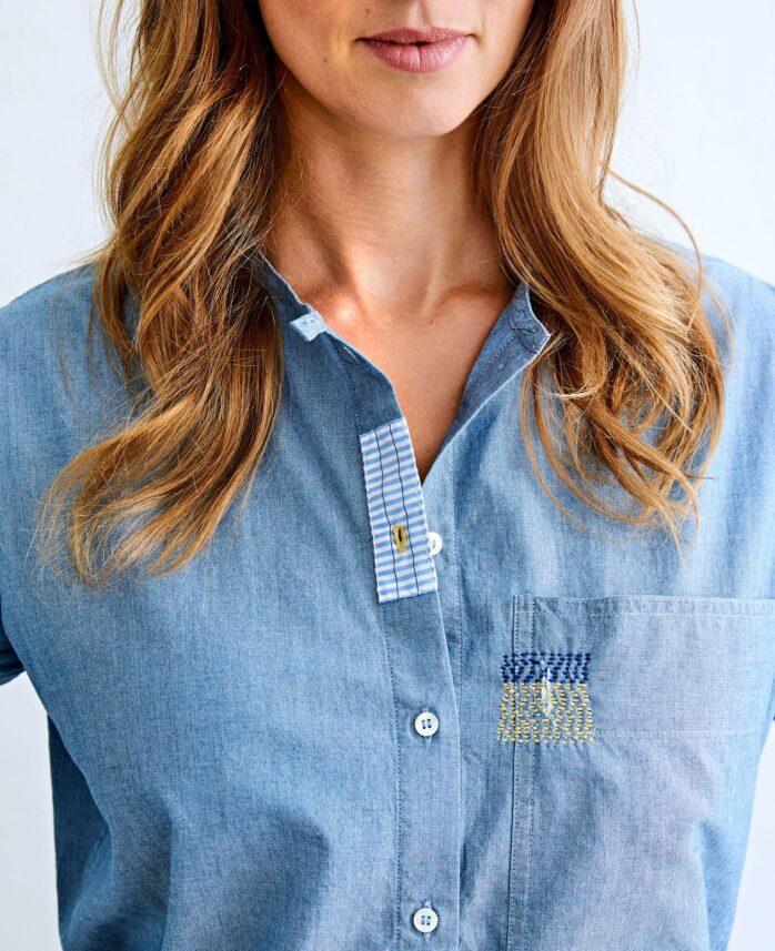 shirt visual mending